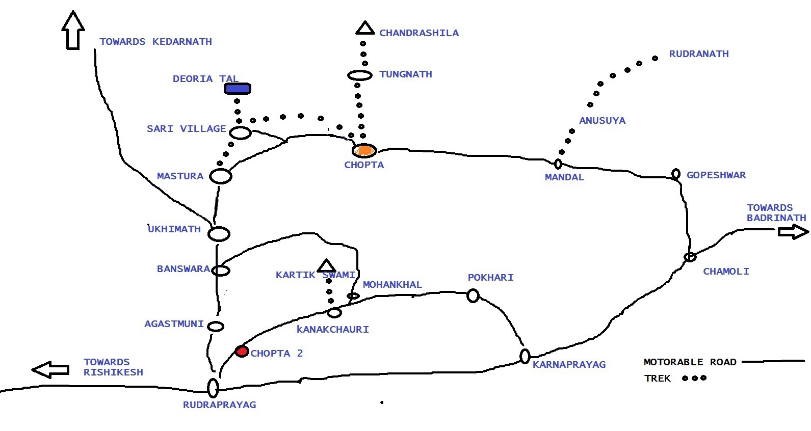 chopta-tungnath-deoria-tal-kartik-swamy-trek-map