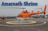 Helicopter services to Amarnath Shrine